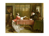 The Banker's Private Room, Negotiating a Loan, 1870 Giclee Print by John Callcott Horsley