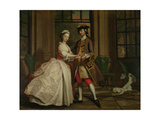 Pamela and Mr B. in the Summerhouse, from 'Pamela: or Virtue Rewarded' by Samuel Richardson… Giclee Print by Joseph Highmore