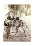 A Turk Mounting a Horse, 1835 Giclee Print by Karl Pavlovich Bryullov