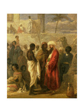 The Slave Market at Cairo, 1841 (Detail) Giclee Print by William James Muller