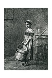 Cosette Carrying a Bucket, Illustration from 'Les Miserables' by Victor Hugo Giclee Print by Gustave Brion