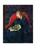 Woman with Cherries Giclee Print by Alfred Emile Stevens