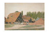 Farm Buildings, Dorchester, Oxfordshire Giclee Print by George Price Boyce
