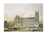Westminster Abbey, Pub. 1852 Giclee Print by Edmund Walker