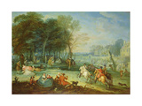 Fete Champetre with Soldiers Rejoicing, 1728 Giclee Print by Jean-Baptiste Joseph Pater