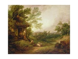 Cottage Door with Girl and Pigs, C.1786 Giclee Print by Thomas Gainsborough
