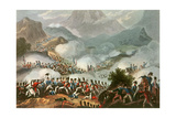 Battle of the Pyrenees, 28th July, 1813, from 'The Martial Achievements of Great Britain and Her… Giclee Print by William Heath