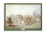 Return from Epsom Races, 1823 Giclee Print by Thomas Rowlandson