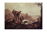 Scalping Giclee Print by Peter Rindisbacher