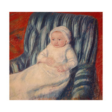 Child on a Sofa, Miss Lucie Berard Giclee Print by Mary Cassatt