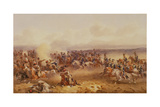 A Squadron of the 10th Hussars Defeat the Russians at Tchernaya, 16th August 1855, C.1890 Giclee Print by Orlando Norie