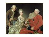 John Jennings Esq. and His Brother and Sister-In-Law, 1769 Giclee Print by Alexander Roslin