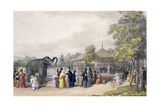 The Elephant House at the Zoological Gardens, Regent's Park, Engraved and Pub. by the Artist,… Giclee Print by George The Elder Scharf