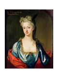 Portrait of Mary Anne Spanheim (1682-1772), Wife of Francois De La Rochefoucauld, Marquis De… Giclee Print by Michael Dahl