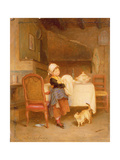 The Little Housekeeper Giclee Print by Andre Henri Dargelas