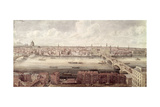 Panoramic View of London Looking North Between Southwark Bridge and London Bridge, C.1831 Giclee Print by Gideon Yates
