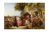 Travellers Outside a Tavern, 1850 Giclee Print by Thomas Falcon Marshall