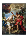 The Baptism of Christ, 1723 Giclee Print by Francesco Trevisani
