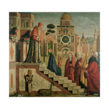 Presentation of Mary in the Temple, Oil on Canvas, 1504-8 Giclée-tryk af Vittore Carpaccio