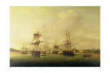Action Off the Coast of France, 13th May 1779 Giclee Print by Thomas Luny