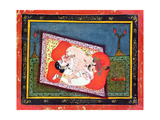'The Posture of the Crow' from the Kama Sutra, Ecstatic Oral Intercourse Between a Prince and a… Giclee Print