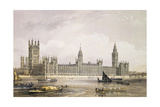 The New Houses of Parliament, Engraved by Thomas Picken (Fl.1838-D.1870) Pub. 1852 by Lloyd Bros.… Giclee Print by Edmund Walker