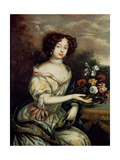 Portrait of Louise Renee Kerouaille, Duchess of Portsmouth and Aubigny (1649-1734), Mistress of… Giclee Print by Henri Gascard