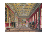 The King's Gallery, Kensington Palace from Pyne's 'Royal Residences', 1818 Giclee Print by William Henry Pyne