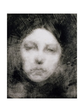 Head of a Young Girl, 1890 Impression giclée par Eugene Carriere