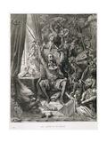 Don Quixote in His Library, Engraved by Heliodore Joseph Pisan (1822-90) C.1868 Reproduction procédé giclée par Gustave Doré