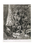 Don Quixote in His Library, Engraved by Heliodore Joseph Pisan (1822-90) C.1868 Giclee Print by Gustave Doré