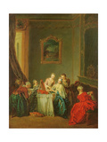 The Toilet: Young Woman at Her Dressing Table Giclee Print by Jean-Baptiste Joseph Pater