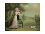 Woman and Child in Park Giclee Print by Richard Cosway