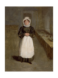 Portrait of a Housekeeper at Bramham Park, Yorkshire, Identified as Mrs Brown, C.1822 Giclee Print by George Garrard