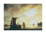The Maas at Dordrecht Giclee Print by Aelbert Cuyp