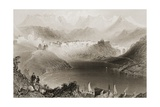 Clifden, Connemara, County Galway, Ireland, from 'scenery and Antiquities of Ireland' by George… Impression giclée par William Henry Bartlett