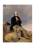Portrait of a Gentleman with His Labrador Giclee Print by Richard Ansdell