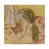 Woman at Her Toilette, C.1885 Giclee Print by Edgar Degas