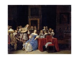 A Musical Party, 1660s Giclee Print by Anthonie Palamedesz