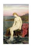 The Little Sea Maid Impression giclée par Evelyn De Morgan