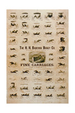 'The H.H. Babcock Buggy Company, Fine Carriages' Giclee Print