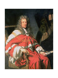 Portrait of Judge George Jeffreys, First Baron of Wem (1648-89) Giclee Print by Johann Closterman