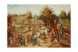The Return from the Kermesse Reproduction procédé giclée par Pieter Brueghel the Younger