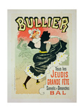 Reproduction of a Poster Advertising the 'Bullier Ball', 1894 Giclee Print by Georges Meunier