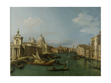 Entrance to the Grand Canal: Looking West, C.1738-42 Giclee Print by  Canaletto