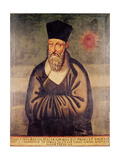 Portrait of Matteo Ricci (1552-1610) Italian Missionary, Founder of the Jesuit Mission in China Giclee Print