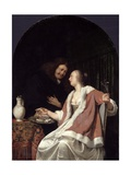 Dutch Courtship, 1675 Giclee Print by Frans Van Mieris