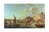 Westminster Bridge Looking Up the River, C.1749 Giclee Print by Samuel Scott