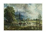 Salisbury Cathedral from the Meadows, 1829-31 Giclee Print by John Constable