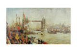Opening of Tower Bridge, 1894 Giclee Print by William Lionel Wyllie